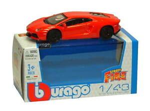 LAMBORGHINI AVENTADOR LP700-4 in Orange - 1:43 Die-Cast Car Toy Model by Burago
