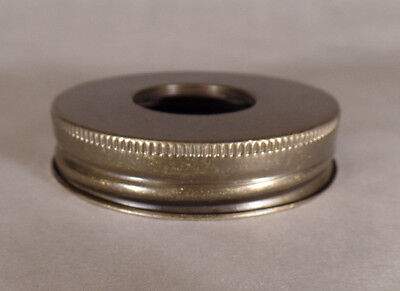 New Mason Jar to # 2 Size Reducing Collar Brass Plated Antiq