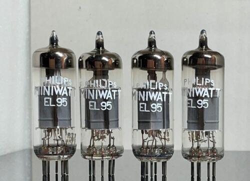 4 NOS tubes EL95 6DL5 6P10 Philips Miniwatt Siemens >> matched quad