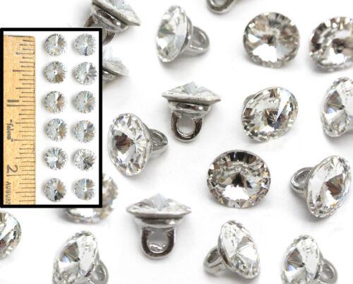 WHOLESALE Swarovski 8mm Crystal Rhinestone Sewing Buttons 1122 ss39 w/shank 12p