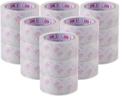 I GO 18 Pack Packaging Tape, Clear Packing Tape Refill Rolls for Shipping,...