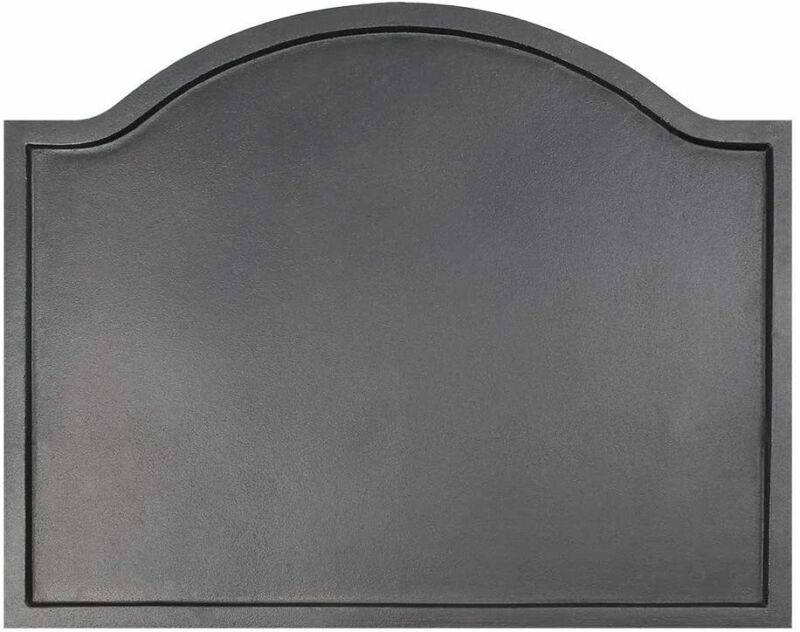 Large Plain Design Fireback Matte Black New