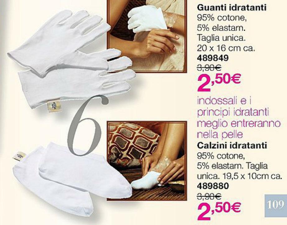 AVON ONLINE: GUANTI o CALZINI IDRATANTI in cotone x MASCHERA manicure/pedicure