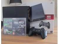 Playstation 3 160 GB + Samsung 27 inch led TV + 2 controllers + call of duty ghosts + CM dirt 2