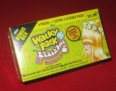 WACKY PACKAGES FLASHBACK 2 SEALED BONUS BOX    @@  SOLD OUT  @@