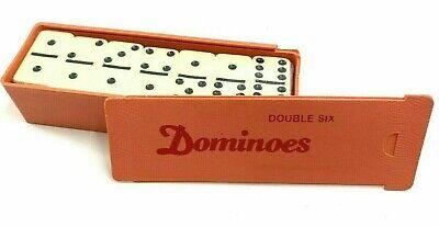 Classic Standart Double Six DOMINOES Set with Plastic case, 28 Tiles Domino Tile