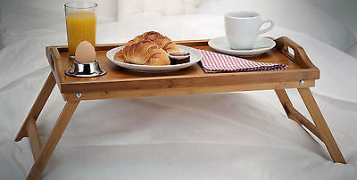 Bambus Serviertablett klappbar - Betttablett Tablett Frühstückstablett Holz - Bett-tablett