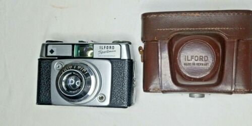 VTG ILFORD SPORTSMAN 35MM CAMERA WITH DIGNAR 45mm 1/2.8 LENS c.1957 Made Germany