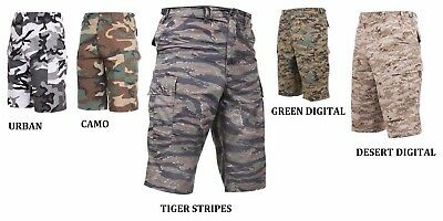 SHORTS BDU ARMY LONG CARGO MILITARY CAMO URBAN TIGER XS,S,M,L,XL,2X,3X,4X,5X ()