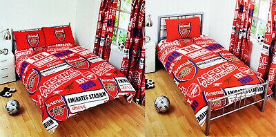 Arsenal FC Patch Single/Double Duvet Cover Pillowcase Set Official Merchandise ()