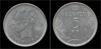 Leopold III 5 frank 1937 FR-pos B