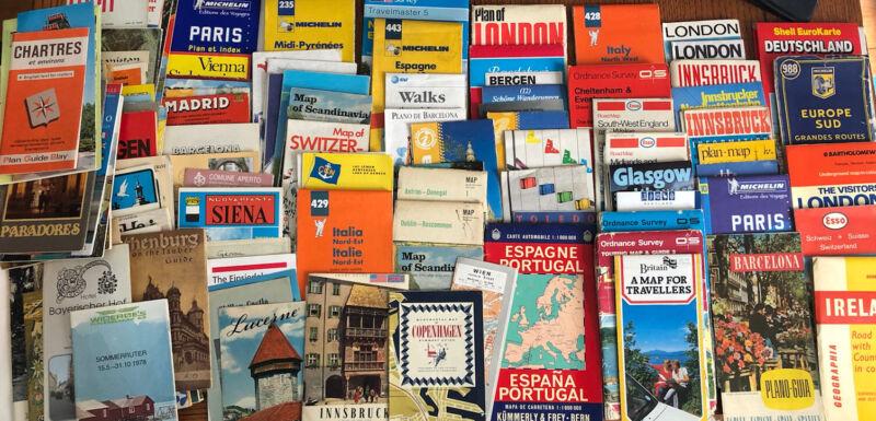 Lot 100+ Vintage International ROAD MAPS & Travel Brochures 1960s - 2000s EUROPE