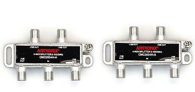 2pc 4-way Splitter Coax Cable TV/Modem/Satellite Digital & MOCA XFINITY 1 to 4