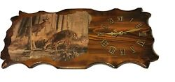 Deer Ridgerunner Clock Custom Made Wildlife Collectible Used Preowned Animal HTF