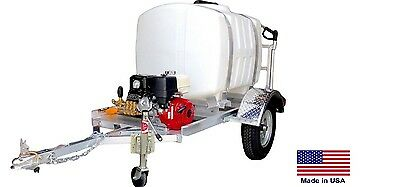 Pressure Washer Commercial - Trailer Mounted 200 Gal - 4000 Psi - Highway Ready
