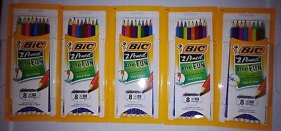 Bic Eraser - (5) BIC Xtra Fun #2 Pencil Break Resistant Lead Non Toxic Latex Free Erase