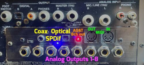 Roland  MV8-OP1 compatible Digital Input + 8x output +ADAT +MIDI MV-8000 / 8800