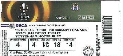 Ticket: Anderlecht - Tottenham Hotspur FC UEFA Europa League (22-10-15)