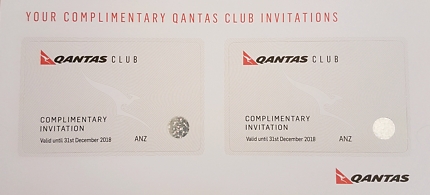Qantas Lounge passes x 2