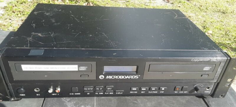 microboards copywriter live model CWL-6200 CD/audio recorder