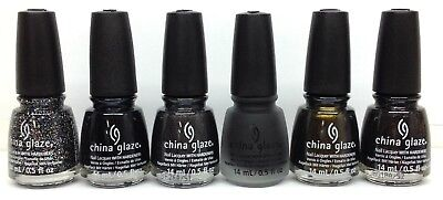China Glaze Nail Lacquer - PAINT IT BLACK HALLOWEEN 2018 - Pick Color - Halloween Black Nails