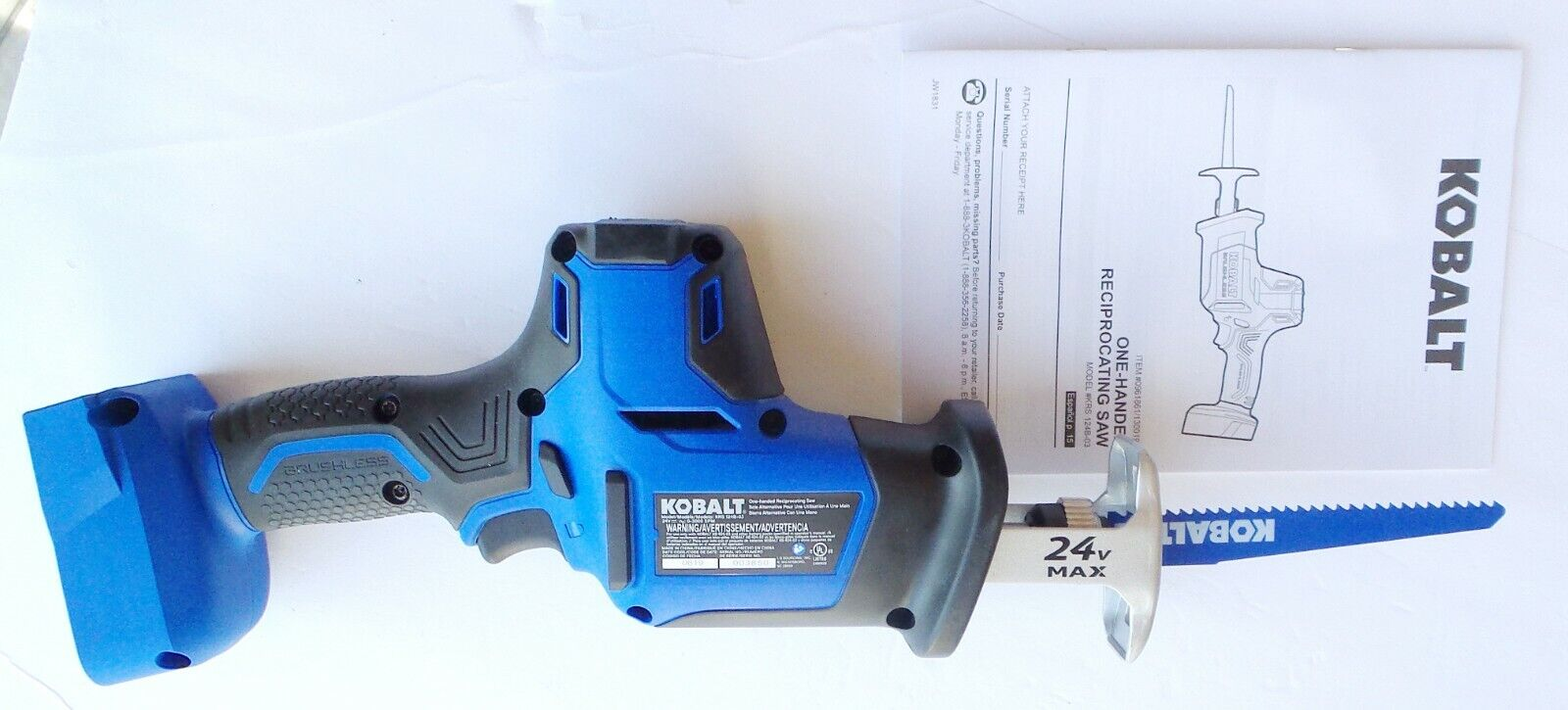 KOBALT KRS 124B-03 Brushless Reciprcating Saw Tool Only!