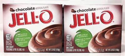 Jello Chocolate Pudding Pie - Jello Chocolate Instant Pudding & Pie FIlling 3.9 oz ( 2 Boxes )