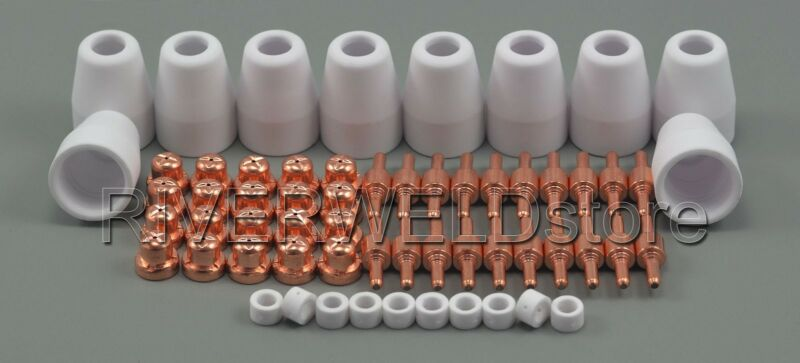 PT-31 LG-40 Air Plasma Cutter Cutting Consumables KIT CUT-50 CUT-40 CT-312 60pcs