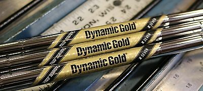New Uncut True Temper Dynamic Gold Tour Issue X7 Iron Shafts Auth Pfc Dealer