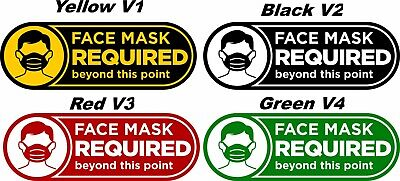 Face Mask Required Exterior Windowdoor Decal - Uv Laminated 7 X 2.5 Decal