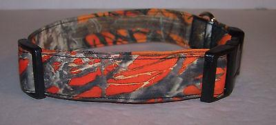 Wet Nose Designs Blaze Orange MC2 Camo Dog Collar Camouflage True -