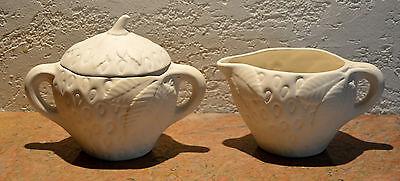 Ceramic Bisque Vintage Strawberry Creamer & Sugar Set - Ready-To-Paint