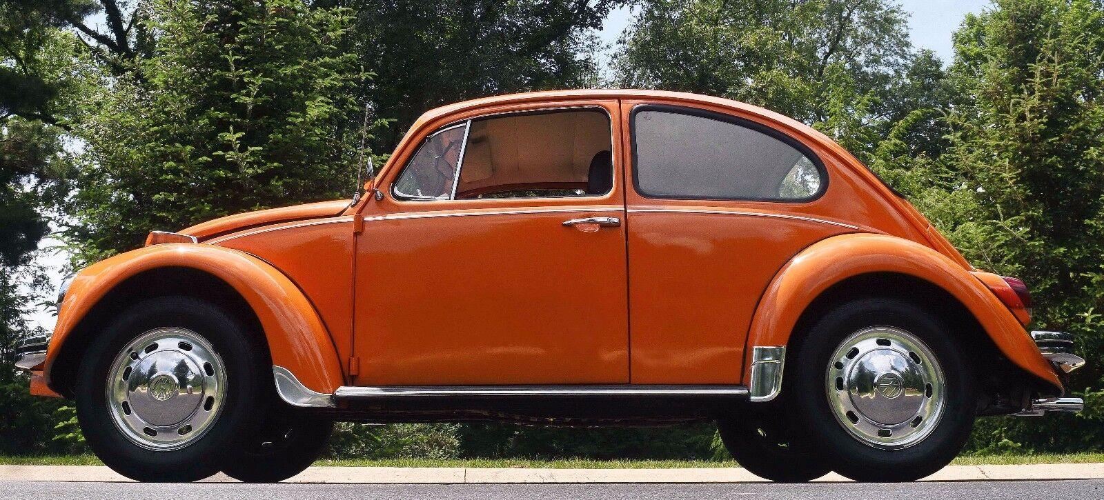 1970 70 Volkswagen Vw Classic Beetle Orange Manual Low