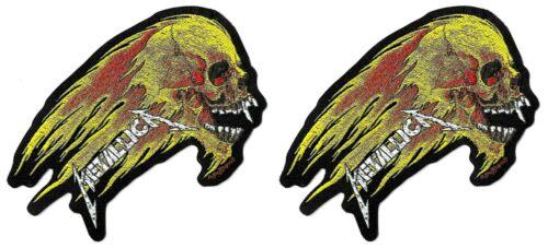 Metallica Flaming Skull Die-Cut Patch [Lot of 2 Patches] Memorabilia Logo Badge