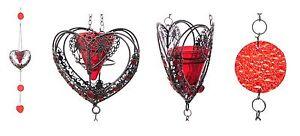Portacandele-da-appendere-in-metallo-034-Cuore-rosso-034-cm-79-cuore-cm-13x11x6