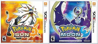Pokemon Sun And Pokemon Moon Combo Set  Nintendo 3Ds