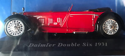 1:43 UNKNOWN MAKER DAIMLER DOUBLE SIX 1931 RED DIECAST CAR MINT NEVER DISPLAYED