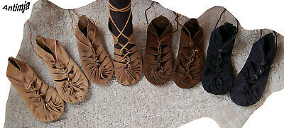 �rsandale Wildleder Mittelalter Goa Hippie Bundschuhe 37-43 (Hippie Schuhe)