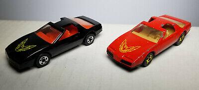 Hot Wheels loose 80's Pontiac Firebird Formula Fiero red black lot of 4