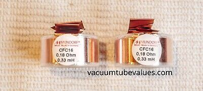 Pair Two Mundorf Coil Inductor Cfc16 0.33 Mh Pure Copper Foil