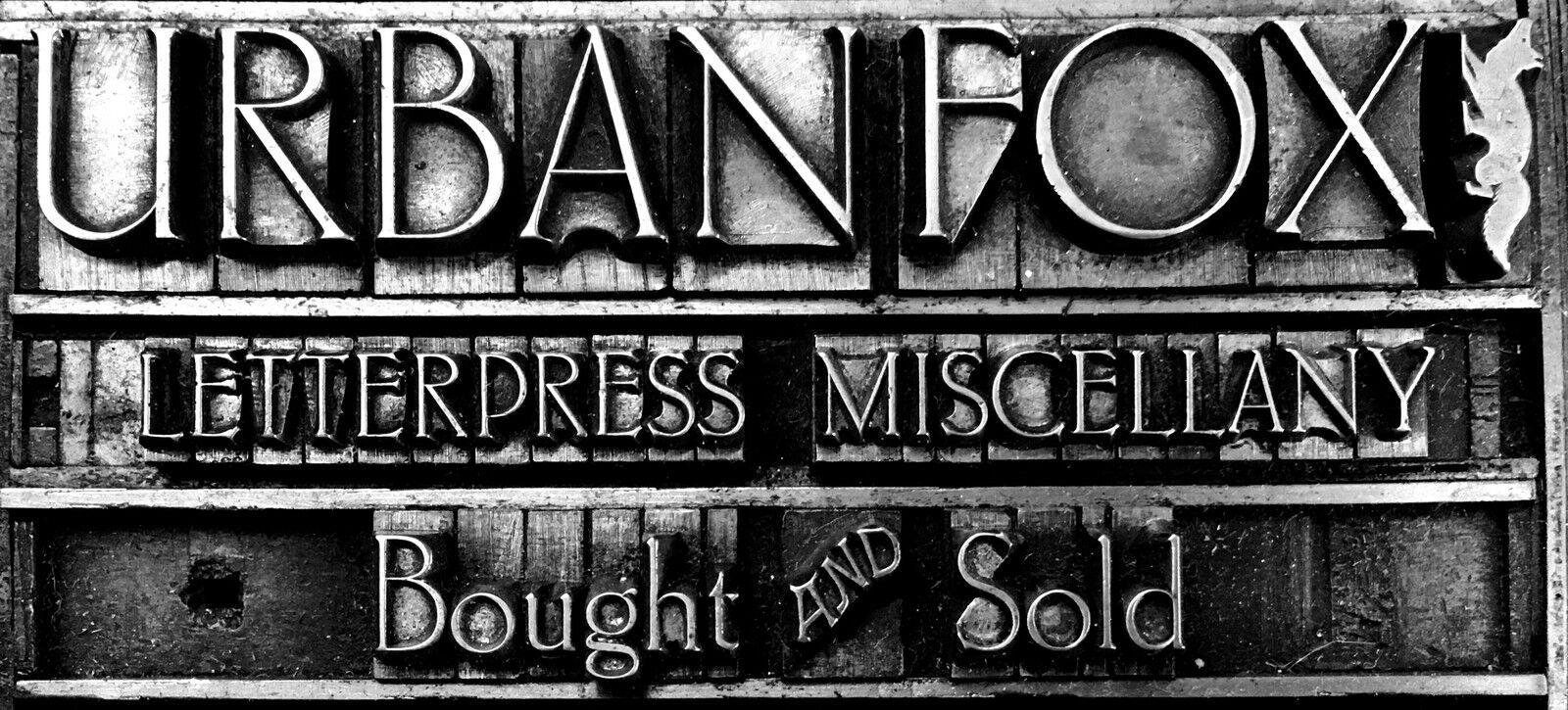 Urbanfox Design Letterpress
