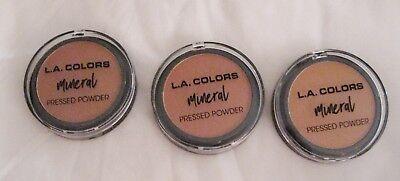 L.A. Color Mineral Pressed Powder- Color Choice (Toffee,Mocha,Ebony) ()
