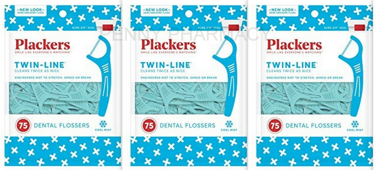 Plackers Twin Line Whitening Floss Picks