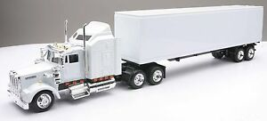 KENWORTH W900 TRUCK SEMI TRAILER 1:43 WHITE DIECAST