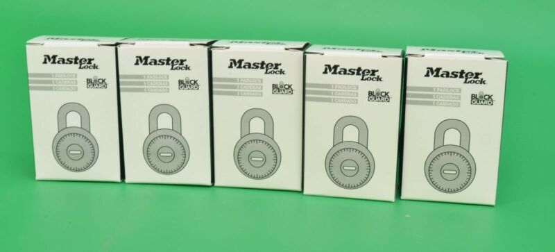 NEW Lot of 5 Master Lock 1525 Combination Padlock Blue Dial V30 Master Key