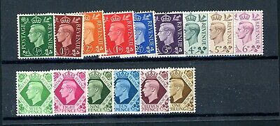 GB  1937  Dark Colours Definitive Set (15)  SG 462/475  unmounted MINT   (P1192)