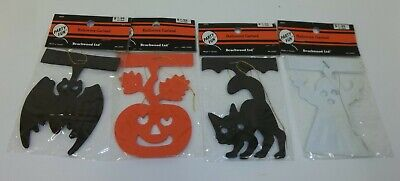 4 Packages Halloween Party Garland Decor - Ghost Black Cat JOL - MIP