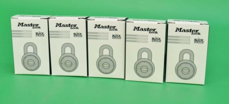 NEW Lot of 5 Master Lock 1525 Combination Padlock Blue Dial V30 Master Key