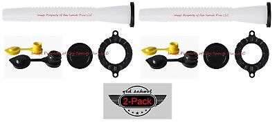 2 Pack Blitz Gas Can Spouts Parts Kits Free Air Breather Vents Tough N Rugged
