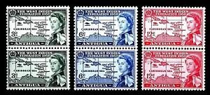 ANTIGUA - 1958 - Istituzione della Federazione britannica occidentale